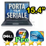 Notebook Dell Latitude D830 Core2Duo T7250 2.0GHz 2048Mb 80Gb 15.4W SERIALE COMBO +KIT Windows 7 Professional