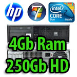 PC HP Compaq Business Desktop DC5800 Core 2 Duo E5300 2.6GHz 4Gb Ram 250Gb DVD�RW Windows 7 HOME Premium