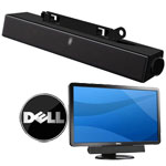 Barra con Casse Altoparlanti Audio per Monitor Dell AX510 UltraSharp Sound Bar con cavo audio