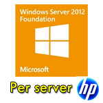 Windows Server 2012 Foundation Solo per SERVER HP Rok Kit