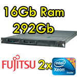 Server Fujitsu Primergy RX200 S4 (2) Xeon Quad Core E5405 12Mb Cache 292Gb SAS (1) PSU