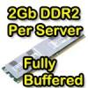 Memoria RAM per server 2GB DDR2 DIMM 667 MHZ 240 Pin PC2-5300 CL4 SDRAM Fully Buffered IBM HP Dell