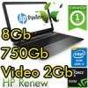 Notebook HP Pavilion 15-p263nl Core i5-5200U 12Gb 750Gb 15.6' HD LED NVIDIA 830M 2Gb Windows 10 L3S63EAR 1Y