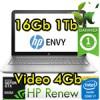 Notebook HP ENVY 15-ae107nl Core i7-5500U 16Gb 1Tb 15.6' FHD NVIDIA GeForce GTX950M 4GB Windows 10 1Y