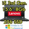 Notebook Lenovo Thinkpad T530 i5-3320M 8Gb Ram 256Gb SSD DVDRW 15.6' Windows 10 Professional