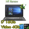 Notebook HP Pav 15-bc014nl Core i7-670HQ 16Gb 1Tb+128Gb SSD 15.6' FHD Nvidia GeForce 960M 4G Windows 10 1Y