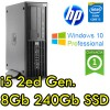 Workstation HP Z210 SFF Core i5-2400 3.1GHz 8Gb 240Gb SSD DVDRW NVIDIA QUADRO 600 1Gb Windows 10 Professional