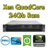 Workstation Dell Precision R5500 Intel Xeon QuadCore X5647 2.9GHz 24Gb 500G DVD nVIDIA Quadro 4000 2Gb Rack 2U