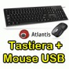 Kit Tastiera e Mouse USB ATLANTIS P013-WK608M-U OTTICO NERA - EAN 8026974015026 - GARANZIA 2 ANNI-