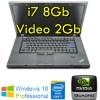 Workstation Lenovo W520 Core i7-2760QM 8Gb Ram 320Gb DVDRW 15.6' QUADRO 2000M 2Gb Windows 10 Professional
