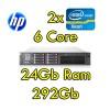 Server HP ProLiant DL380 G7 (2) Xeon Quad Core E5640 2.67GHz 12M 24Gb Ram 292GB SAS (2) PSU Smart Array P410i