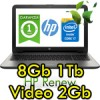 Notebook HP Pavilion 15-ay011nl Core i7-6500U 8Gb 1Tb 15.6' HD LED AMD Radeon R7 M440 2GB Windows 10 HOME