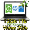 Notebook HP 15-ac196nl Core i7-5500U 12Gb 1Tb 15.6' HD BV LED AMD Radeon R5 M330 2GB Windows 10 1Y