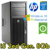 Workstation HP Z210 CMT Core i5-2500 3.3GHz 8Gb 500Gb DVDRW Windows 10 Professional