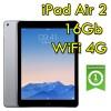 iPad Air 2 16Gb Grigio Siderale WiFi Cellular 4G 9.7' Retina Bluetooth Webcam (Seconda Generazione) MGGX2TY/A