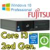 PC Fujitsu Esprimo E710 Core i3-2130 3.4GHZ 8Gb Ram 250Gb DVD Windows 10 Professional