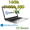 HP EliteBook 1030 G1 m7-6Y75 16Gb Ram 512Gb SSD 13.3' Windows 10 Professional