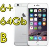 iPhone 6 Plus 64Gb Argento A8 WiFi Bluetooth 4G Apple MGAJ2QN/A 5.5' Silver iOS 11 [GRADE B]