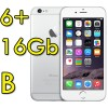 iPhone 6 Plus 16Gb Argento A8 WiFi Bluetooth 4G Apple MGA92QL/A 5.5' Silver iOS 11 [GRADE B]