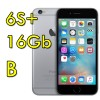 iPhone 6S Plus 16Gb SpaceGray A9 MKU12ZD/A Grigio Siderale 4G Wifi Bluetooth 5.5' Originale iOS 11 [GRADE B]