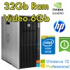 Workstation HP Z820 Xeon E5-2690 v2 3.0GHz 25Mb Cache 32Gb RAM 300Gb NVIDIA QUADRO 6000 6Gb Windows 10 Pro