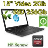 Notebook HP 15-bw025nl AMD A12-9720P 2.7GHz 12Gb 256Gb SSD 15.6' AMD Radeon 530  Windows 10 HOME
