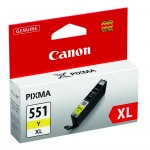 CARTUCCIA CANON CLI-551XL Y GIALLO ALTA CAPACITA   iP7250 MG5450/6350 15ml 6446B001/6446B004