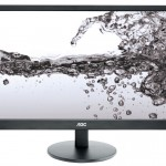 MONITOR AOC LCD LED 21.5' WIDE E2270SWN 5ms 0.248 1920x1080 600:1 BLACK VGA Vesa Fino:05/07