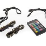 RGB COLOR LED KIT - 2 Strisce LED Multicolor 30 cm (18 led) con Telecomando, Controller e Prolunga (ITRGBCLKIT