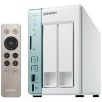 NAS QNAP TS-251A-2G X 2HD 3,5/2,5 SATA6>NO HD<2P Gigabit-3P USB3.0-2Gb DDR3L,Celeron DualCore 1.6GHz-GAR.2 ANN