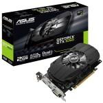 SVGA ASUS PH-GTX1050-2G nVidia GTX1050 2GDDR5 128bit PCIe3.0 DVI-D HDMI DP HDCP OpenGL4.5 2 slot 90YV0AA0-M0NA