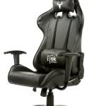 SEDIA GAMING ITEK Chair TAURUS P2 - Nero Nero - Pelle sintetica PU, Doppio cuscino (ITTGCHP2BB)