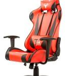 SEDIA GAMING ITEK Chair TAURUS P2 - Nero Rosso - Pelle sintetica PU, Doppio cuscino (ITTGCHP2BR)