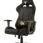 SEDIA GAMING ITEK Chair TAURUS S1 - Nero Nero - Tessuto, Doppio cuscino (ITTGCHS1BB)