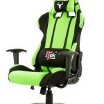 SEDIA GAMING ITEK Chair TAURUS S1 - Nero Verde - Tessuto, Doppio cuscino (ITTGCHS1BG)