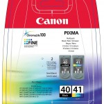MULTIPACK CANON PG-40 + CL-41 0615b043 X PIXMA P1600/IP1700/IP2200/MP150/170/160/180