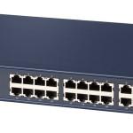 SWITCH 24P LAN 10/100M NETGEAR JFS524-200EUS RACKMOUNT Metal Case supp.EEE e IEEE802.1p-Garanzia a vita-