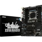MB MSI X99A RAIDER LGA2011-3 X99 8D4QC-3333OC 3PCIEX16 3.0 10SATA3 RAID +M.2 +1xeSATA 2+6USB3.1 6USB2 GLAN ATX