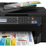 STAMPANTE EPSON MFC INK EcoTank ET-4550 C11CE71404 A4 13PPM ISO 4in1 ADF F/R USB LAN WIFI DIRECT iPrint, 2KIT