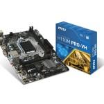 MB MSI H110M PRO-VH LGA1151 H110 2D4DC-2133 VGA+HDMI+1PCIEX16 3.0 2PCIEx1 4SATA3 4USB3.1 G1 6USB2 GLAN mATX Fi