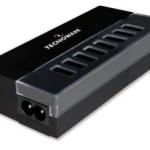 ALIMENTATORE USB da CASA 8P TECNOWARE FAM17247 Out:8x 5Vdc/2.1A In:110-240Vac-50/60Hz cavo 1,5 metri - Nero