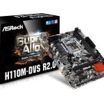 MB ASROCK H110M-DVS R2.0 6GEN LGA1151 H110 2D4DC2133 VGA+DVI+1PCIE3.0x16 1PCIEx1 4SATA3 2USB3 4USB2 GLAN mATX
