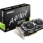 SVGA MSI GTX 1060 ARMOR 3G OCV1 NVIDIA GTX 1060 Pci-ex16 3.0 3GBDDR5 2xDP + 2xHDMI + DVI DX12 Fino:31/05