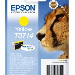 CARTUCCIA EPSON Ghepardo C13T07144011/12 GIALLO STYLUS D78 DX4000/4050/5000/6000/6050 BLISTER