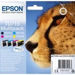 MULTIPACK EPSON Ghepardo C13T07154010/12 1 NERO T071140 +3 COLOR T071240/340/440 SCD78 e DX4-5-6000-8400