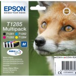 MULTIPACK EPSON 'Volpe' C13T12854010/12 4 cart. NERO, MAGENTA, GIALLO, CIANO x S22 -SX125- SX420W- BX305F BLIS