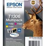 MULTIPACK EPSON Cervo C13T13064010/12 3 COLOR T130240/340/440 SX320FW -BX525WD - SX625FWD- SX525WD-SX620FW TAG