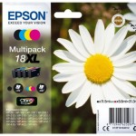 MULTIPACK EPSON 18XL Margherita C13T18164010/12 4 COLORI x EXPRESSION XP-30/XP-102/XP-202/XP-205/XP-302/XP-305