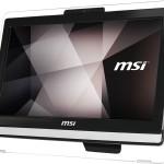 LCDPC M-Touch MSI PRO 20ET 4BW-043XEU 19.5'BLK N3160 4GBDDR3 500GB3.5' FreeDos ODD WiFi 6USB 1XRS232 CAM T+M 1