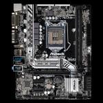 MB ASROCK B250M-HDV 7GEN LGA1151 B250 2D4DC2400 VGA+DVI+HDMI+1PCIE3.0X16 1PCIEx1 6SATA3+1M.2 4USB3 2USB2 GLAN